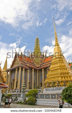 Wat Phra Kaew, Bangkok , Thailand. main temple in the Grand Palace. - stock photo