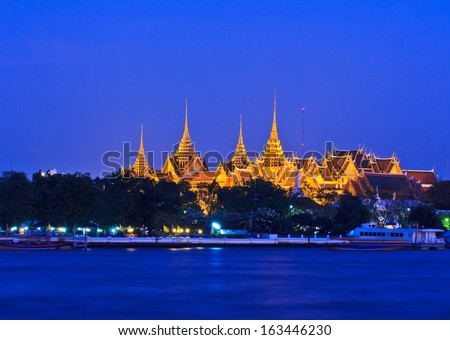 Wat Phra Kaew Royal Palace in Bangkok, Thailand  - stock photo