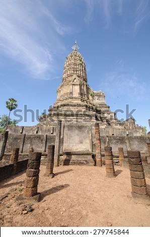 Wat Phra Si Ratana Mahaphat, Si Satchanalai, Thailand - stock photo