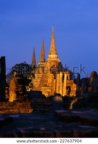 Wat Phra Si Sanphet, Thailand. - stock photo