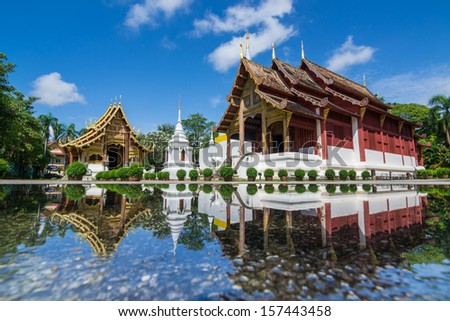 Wat Phra Sing Temple of Chiangmai Thailand
