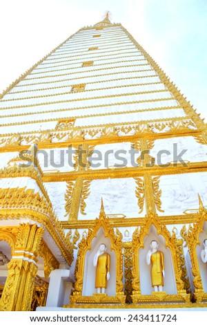 Wat Phra That Nong Bua in Ubon ratchathani Thailand close up - stock photo