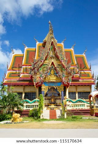 Wat Plai Laem - Buddhistic Temple, Koh Samui island, Thailand - stock photo