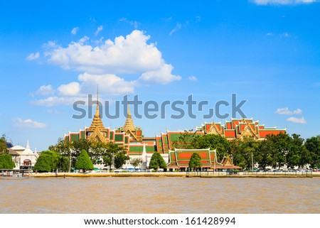 Wat pra kaew and Grand palace in Bangkok, Thailand - stock photo