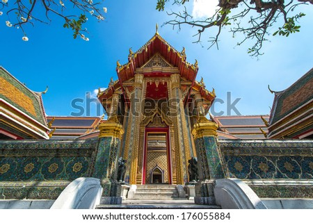 Wat Rajabopit or Rachabophit Royal Tombs and temple in bangkok Thailand  - stock photo