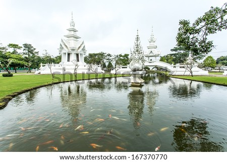 wat rongkhun in chiangrai province Thailand