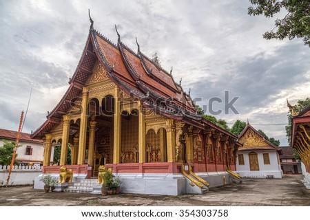 Wat Sene temple in Luang Prabang, Laos - stock photo