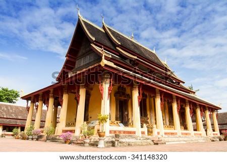 Wat Si Saket, Vientiane, Laos, Southeast Asia - stock photo