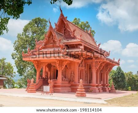 Wat Sila Ngu buddhist temple in Hua Thanon, Koh Samui, Thailand - stock photo