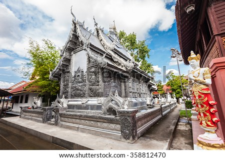 Wat Sri Suphan is a buddhist temple in Chiang Mai, Thailand - stock photo