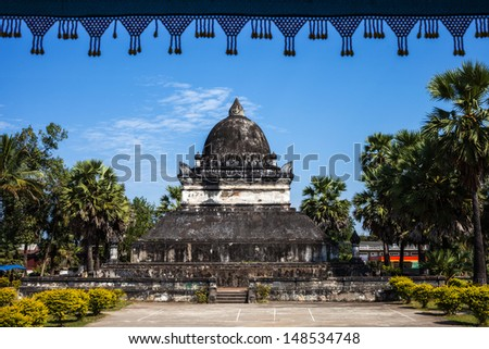 Wat Wisunalat at Laung Prabang, Lao, bulid 1503 - stock photo