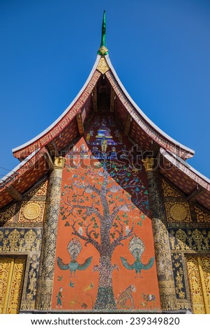 Wat xiang thong,temples in Luang Prabang, Laos, Southeast Asia - stock photo