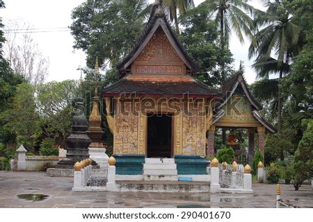 Wat Xieng Thong, Buddhist temple - stock photo