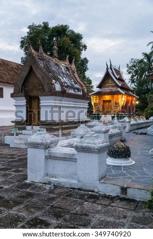 Wat Xieng Thong Buddhist temple in Luang Prabang, Laos