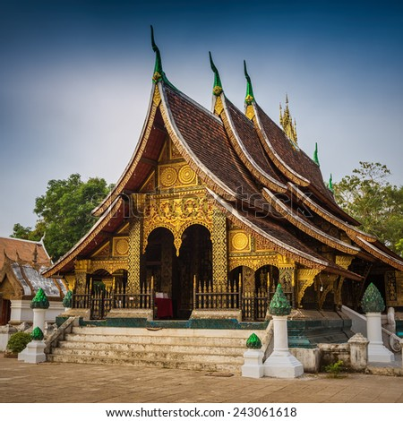 Wat Xieng thong temple,Luang Pra bang, Laos - stock photo