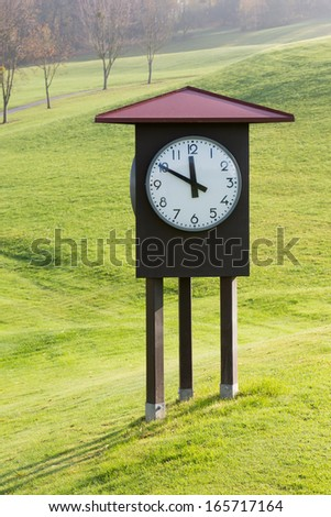 Watch - a few minutes before 12 - stock photo