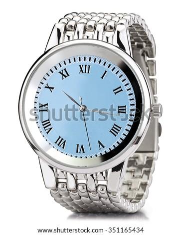watch clock hand - stock photo
