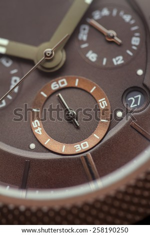 Watch Macro  - stock photo