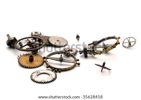 Watch mechanism - stock photo