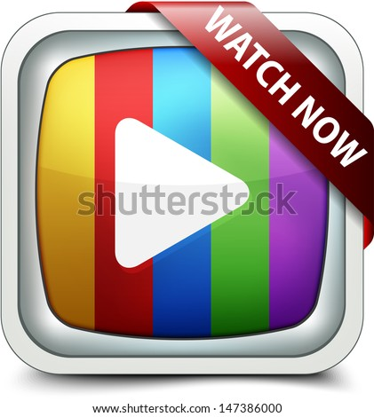 Watch Now button - stock photo