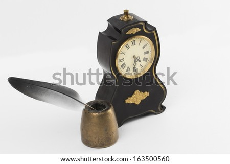 watch on the white background - stock photo