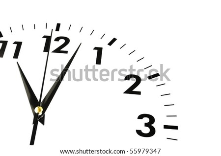 watch or clock isolated on white showing time concept