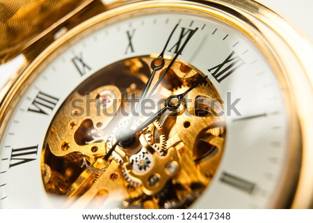 watch pocket full frame closeup - stock photo