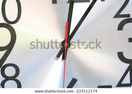 Watch stopwatch graphic element partially