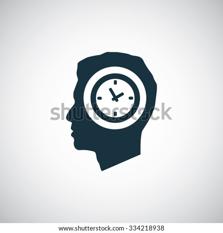 watch time head icon, on white background