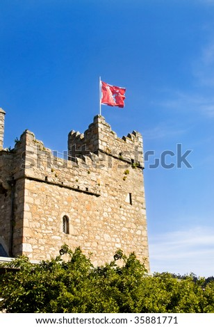 Watch tower at medieval castle in Dalkey, Ireladn