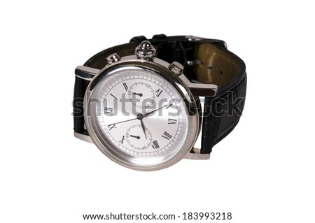 Watch with Leather Strap.