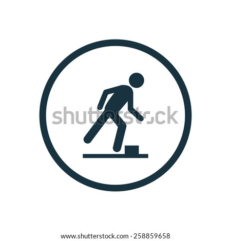 watch your step icon on white background