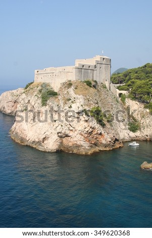 Watchdog castle city of Dubrovnik Croatia