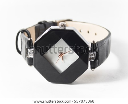 Watches for women on a white background