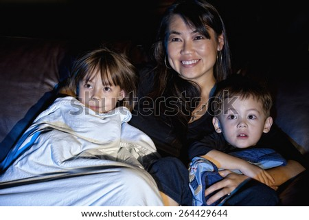 Watching A Show - stock photo