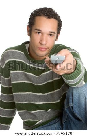Watching Television - stock photo