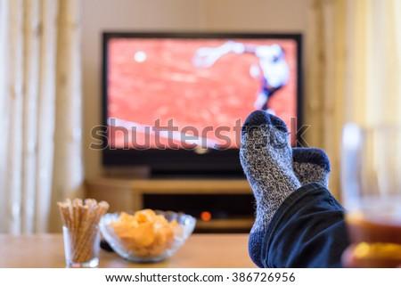 Watching Tennis Match On Tv Set Stock Photo 386726956 - Shutterstock