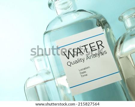 Water analysis - stock photo