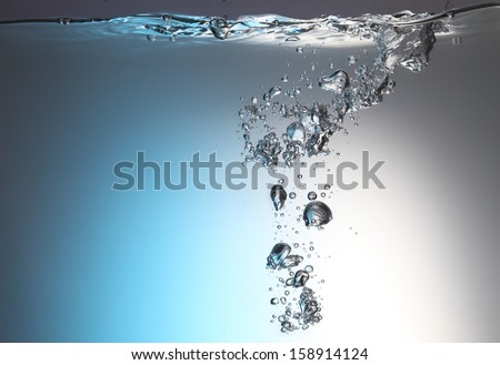 Water and air bubble