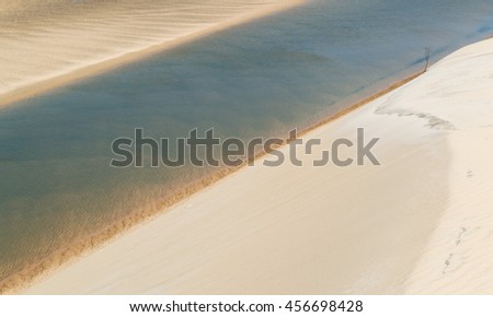 Water and sand layers. - stock photo