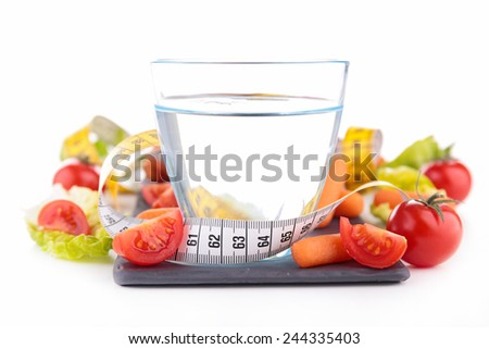 water and vegetables