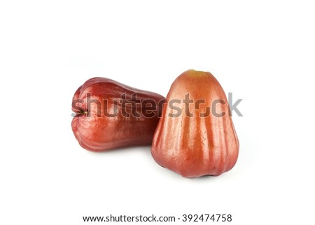 Water apple or rose apple on isolate white background