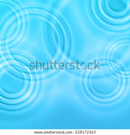 Water background from radial waves