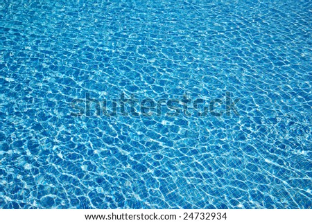 Water background. Swimming pool in the tropical hotel.