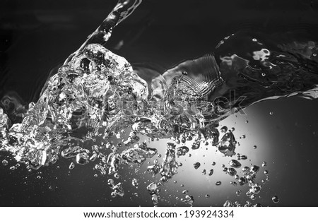 water background with air bubbles