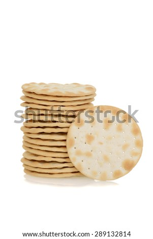Water biscuit cracker - stock photo