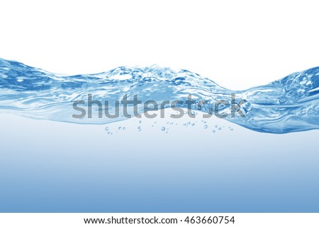 Water,blue water splash isolated on white background