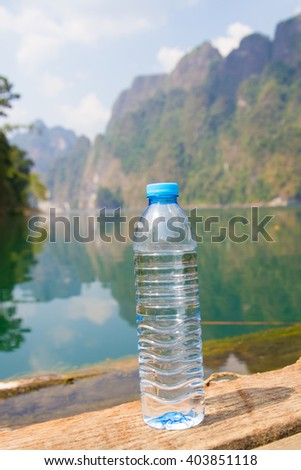 Water Bottle and fresh background - stock photo
