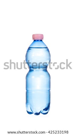 Water bottle isolate on white background