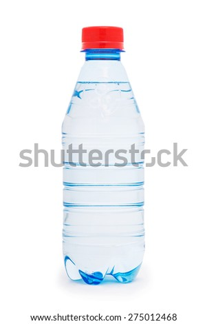 Water bottle isolated on the white - stock photo